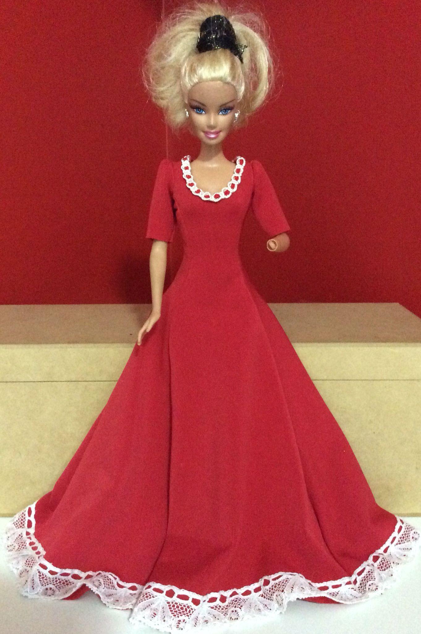 Vestido de malha | Barbie : Ropita Vestidos Largos | Pinterest ...