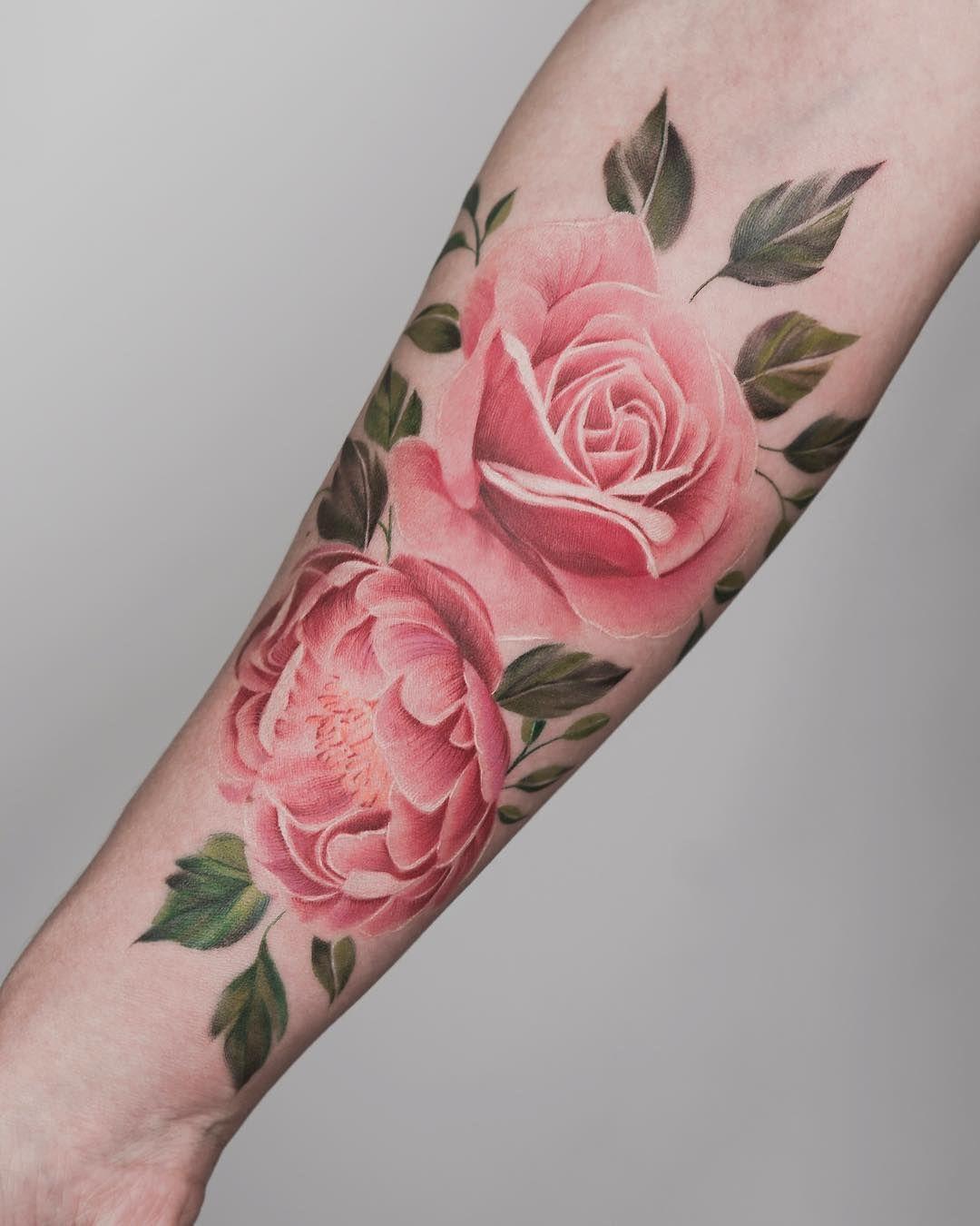Tatuagem Braco Floral Colorida Tritoan Seventhday Tatuagem