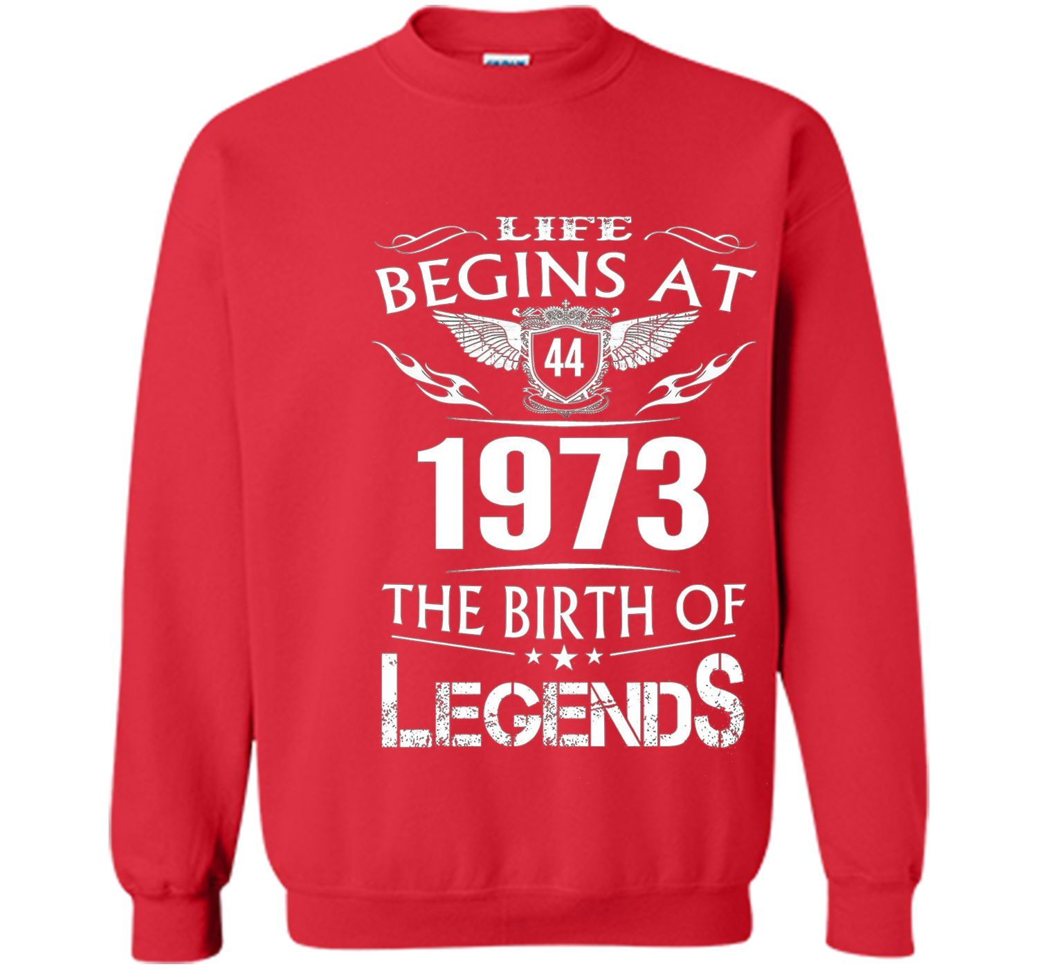 Life Begins At 44 1973 The Birth Of Legends T-Shirt cool shirt