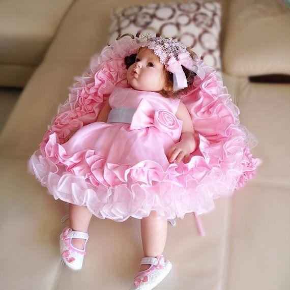 bf3e98ba0 so cheap c50a6 2fe1f baby pink toddler thanksgiving dress birthday ...