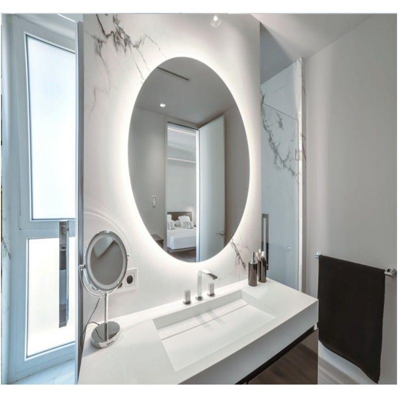 Espejo baño con luz led circular o redondo, varios medidas ...