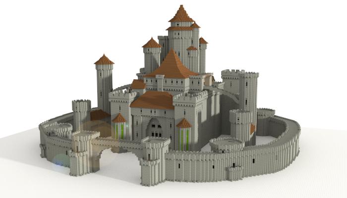 Castle I Made In Minecraft  Download Link        Minecraft Schematic  5599