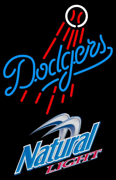 Neon Signs Los Angeles Natural Light Los Angeles Dodgers Mlb Neon Sign 3 0017 Natural