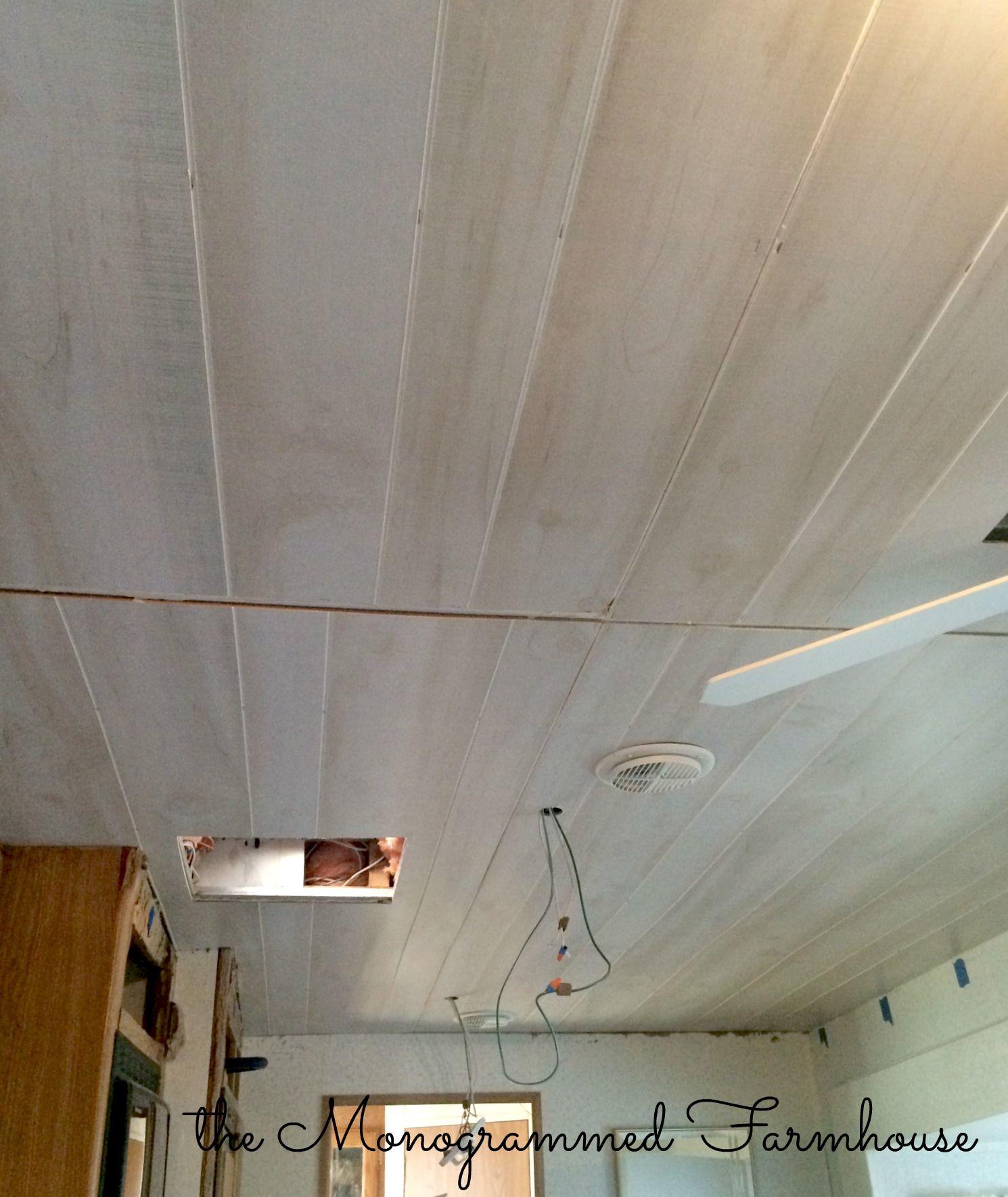The camper renovation progress camper renovation rv for Ceiling renovation ideas