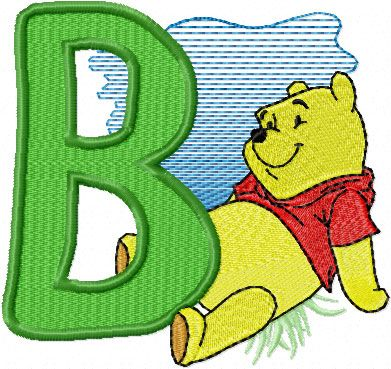 Free Winnie The Pooh Alphabet For Machine Embroridery Free