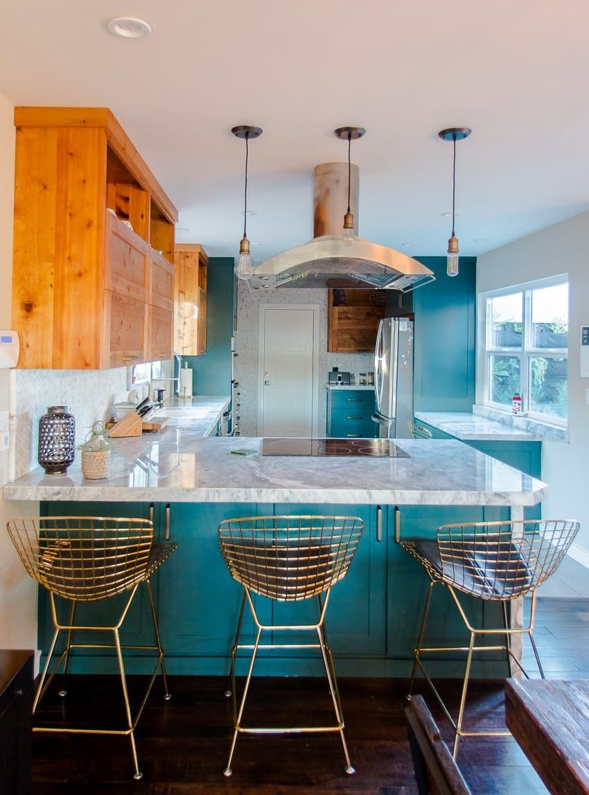Erin & Danny\'s Serene California Home | Colorful kitchen cabinets ...