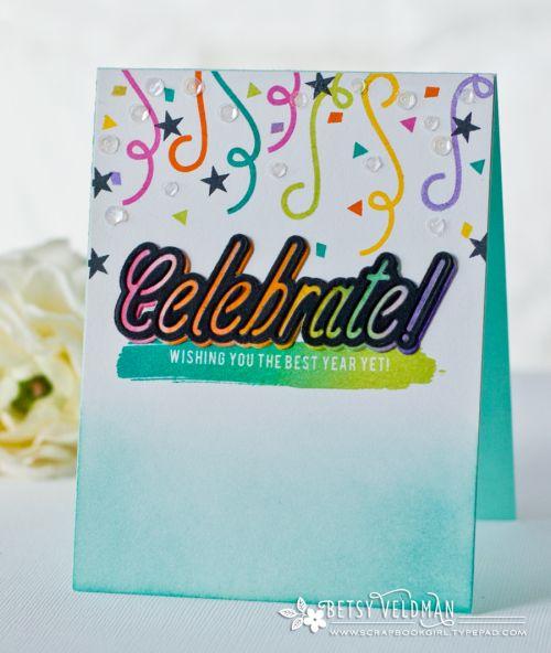 Celebrate Card by Betsy Veldman for Papertrey Ink (December 2016)