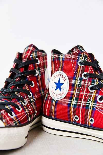 6d570035f71 Conserve Chuck Taylor All Star Tartan High-Top Women s Sneakers ...