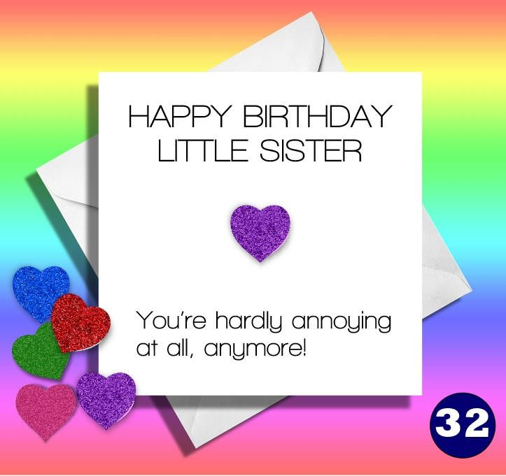Funny Birthday Cardlittle Sisterfunny Sister Card Greetings CardsisterMy Annoying Sisterhappy Birthdayfamilyhilarious Greeting By LOLcardshop On