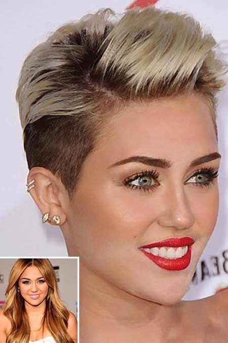 Celebrity short blonde haircut. I don't care for Miley Cyrus but her hair is awesome