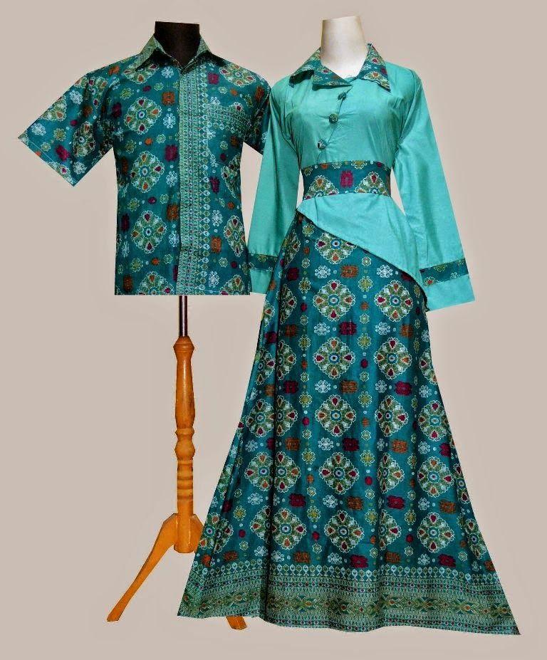 Baju Gamis Polos Kombinasi Batik Dokumen Pinterest Model Baju