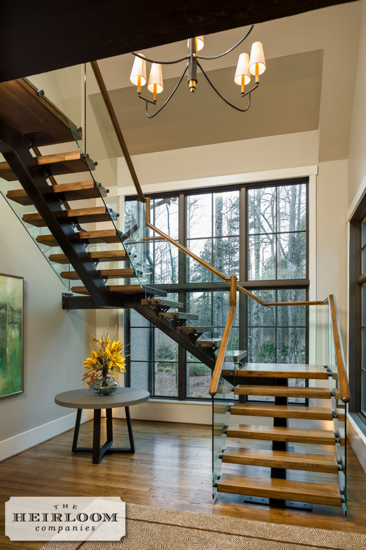 Best Wood Iron Glass Staircase The Heirloom Companies 400 x 300