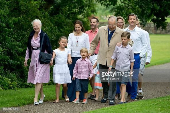The Danish Royal Family attends the annual Summer photocall for the Royal Danish family at Grasten Palace on July 25, 2015 in Grasten, Denmark.
