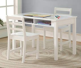 Just Home Kid S Table Chairs 3 Piece Set With Whiteboard Big Lots Kids Table With Storage Kids Table Set Kid Table