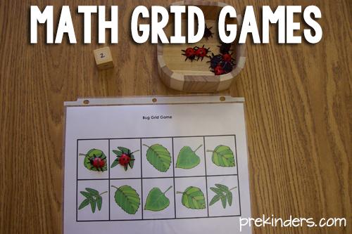 Grid Games for PreK Math Grid game, Math grid, Math