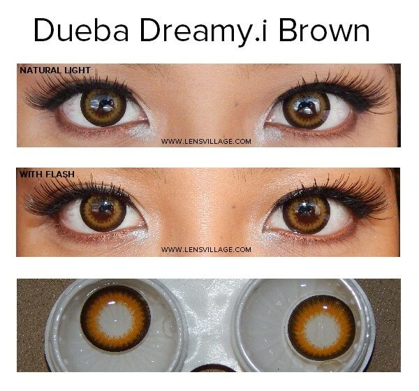 Dueba Dreamy I Brown Lens Fresh Look Contact Lenses Growing Out