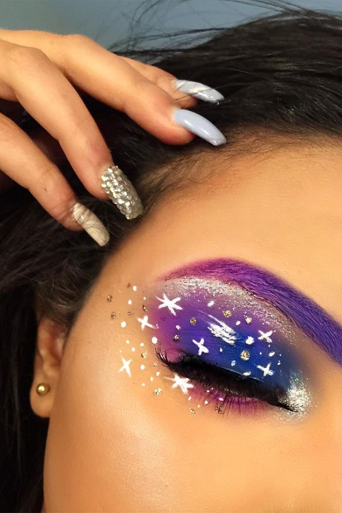 Galaxy Makeup Looks And 8211 Creative Makeup Ideas For