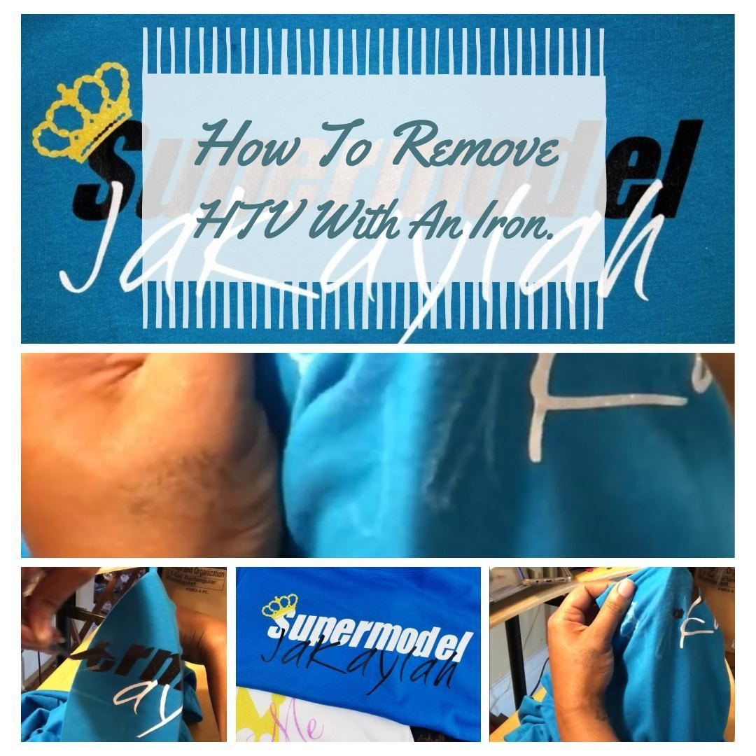 Heat transfer vinyl how to remove htv from a shirt heat
