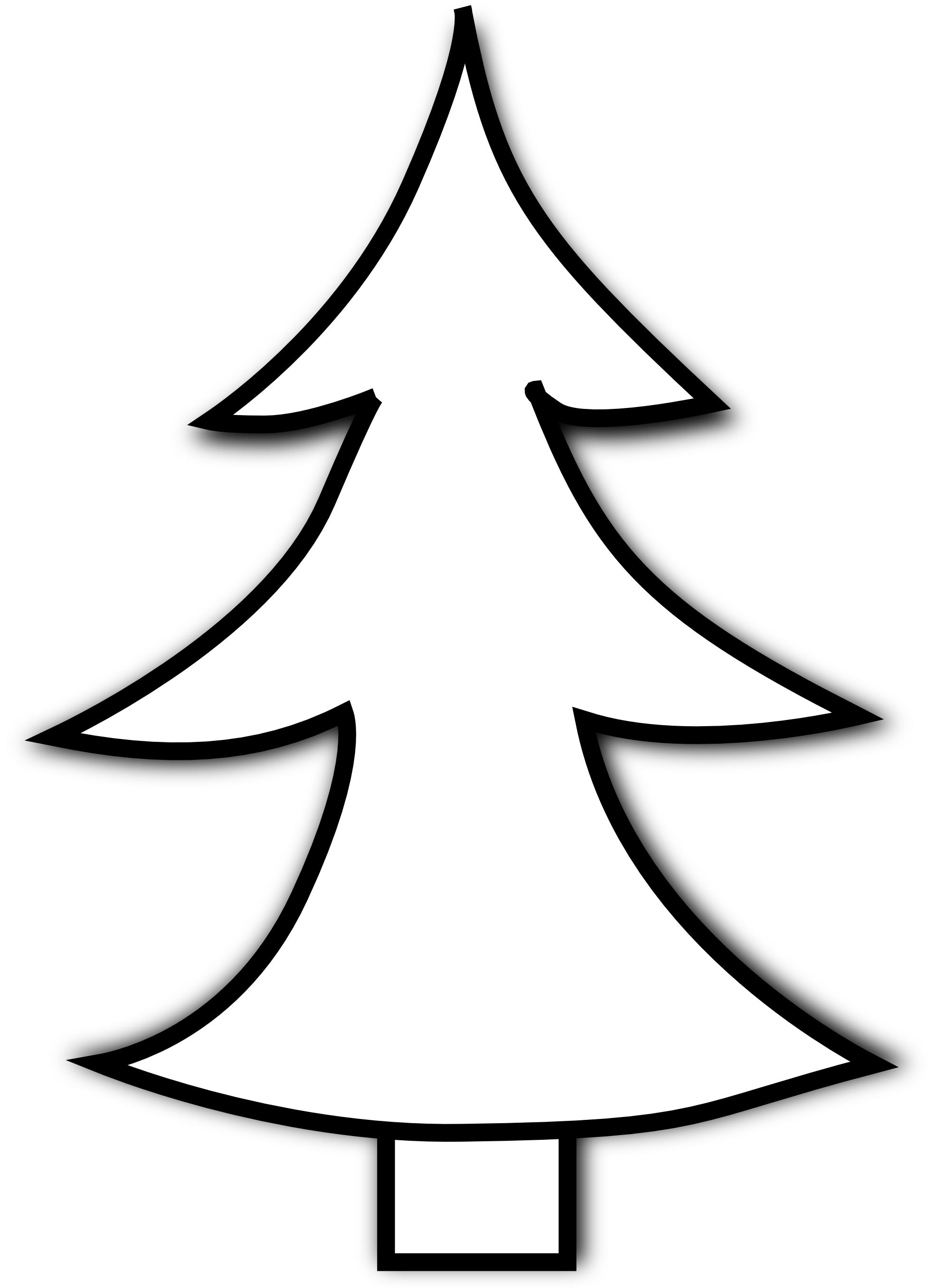 Pine Tree Clipart Black Clipart Panda Free Clipart Images Christmas Tree Clipart Black And White Tree Tree Clipart