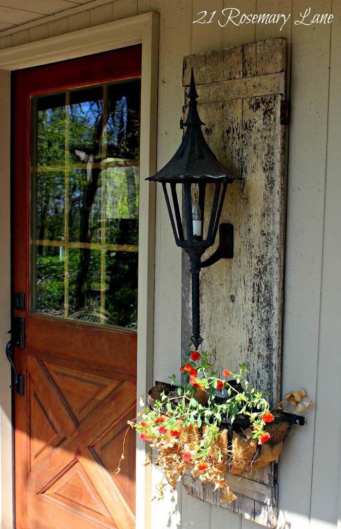Old English Panel Side Lamp #porch #diy #lights #decorhomeideas