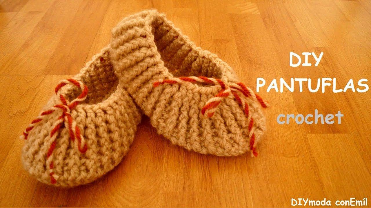 C mo tejer pantuflas a crochet paso a paso slaipers - Manualidades a crochet paso a paso ...