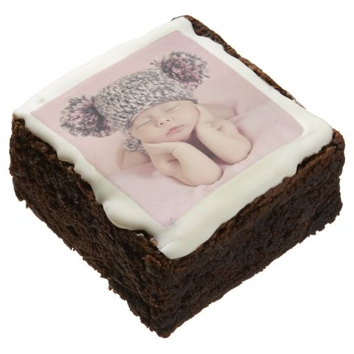 Personalized Add Your Baby Wedding Photo Brownie