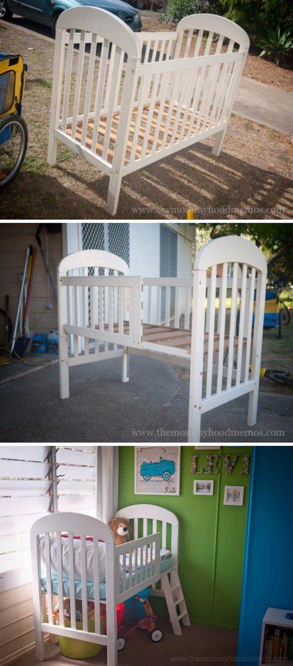 Loft beds for kids diy  DIY Toddler Loft Bed Made from an Old Crib  Saiges board