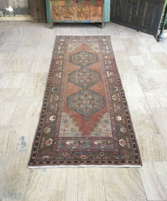 Runner Rug 3 2x9 5ft Vintage Oushak Handmade Kitchen