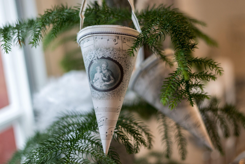 Wohnideen Weihnachtsdeko vintage tüte zum befüllen deco decoration advent adventszeit