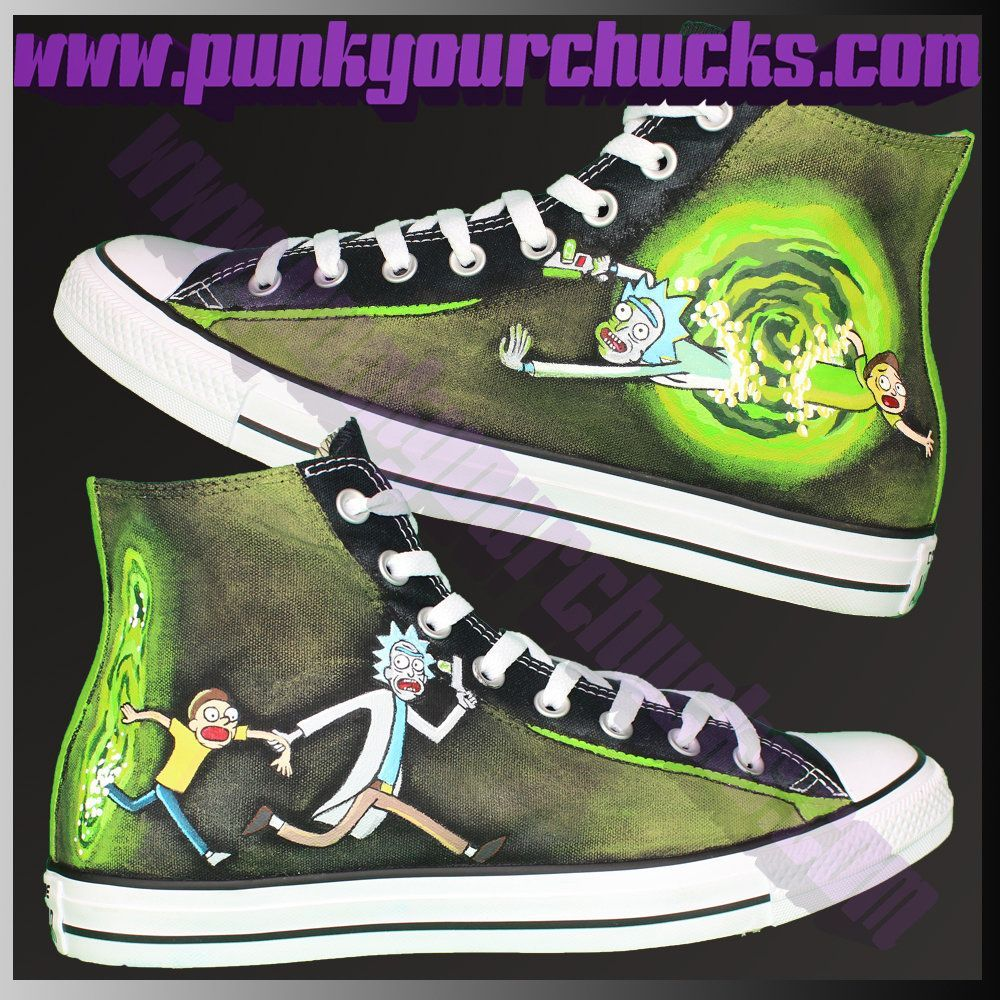 NEW DESIGN! Rick   Morty Custom Converse available to buy here    RickAndMorty  PickleRick  converse  chucks 3fcf47cce