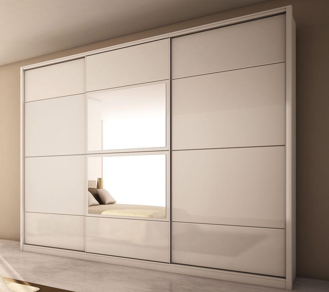 Manhattan Comfort 8 Drawer Noho 3 Door Wardrobe In White Gloss High Gloss 34284mc Bedroom Closet Design Wardrobe Design Bedroom Wardrobe Door Designs