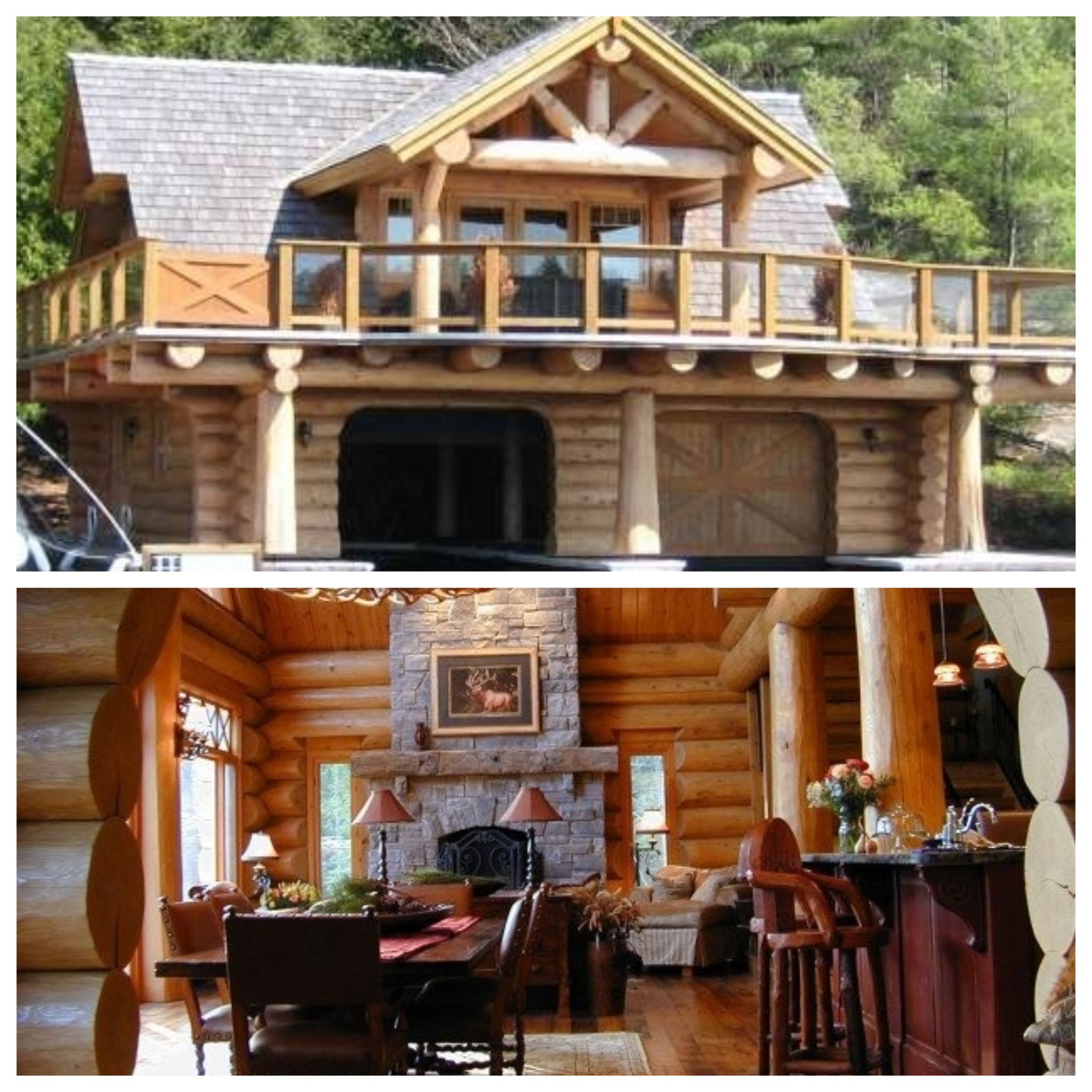 Amazing Waterfront Log Home With Beautiful Interior Beautiful Interiors Log Homes Home