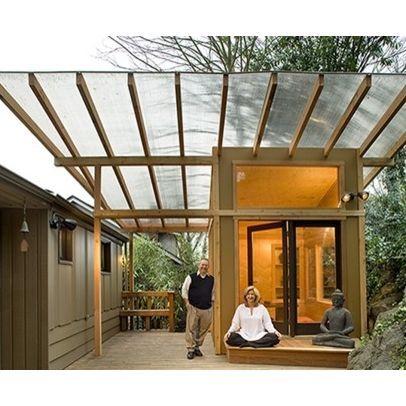 Meditation Hut Polycarbonate Clear Roof Pergola Architecture