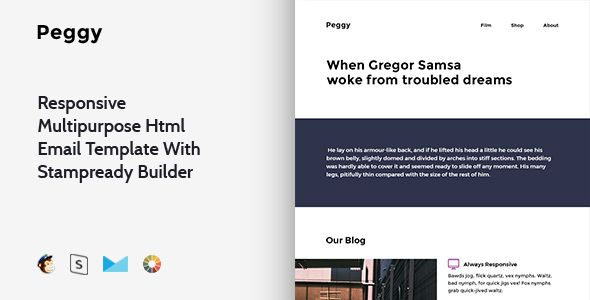Peggy  Responsive Multipurpose Email Template  Stampready