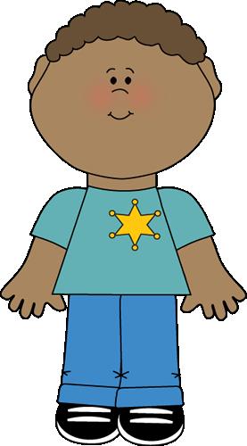 Boy wearing a sheriff's badge. | Classroom Job Clip Art ...