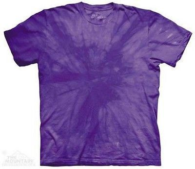 Spiral Purple Solid Color Tie Dye T-Shirt