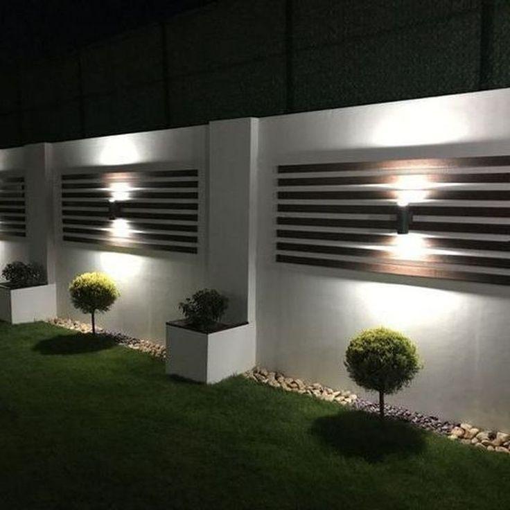 Backyard Fence Lighting Ideas