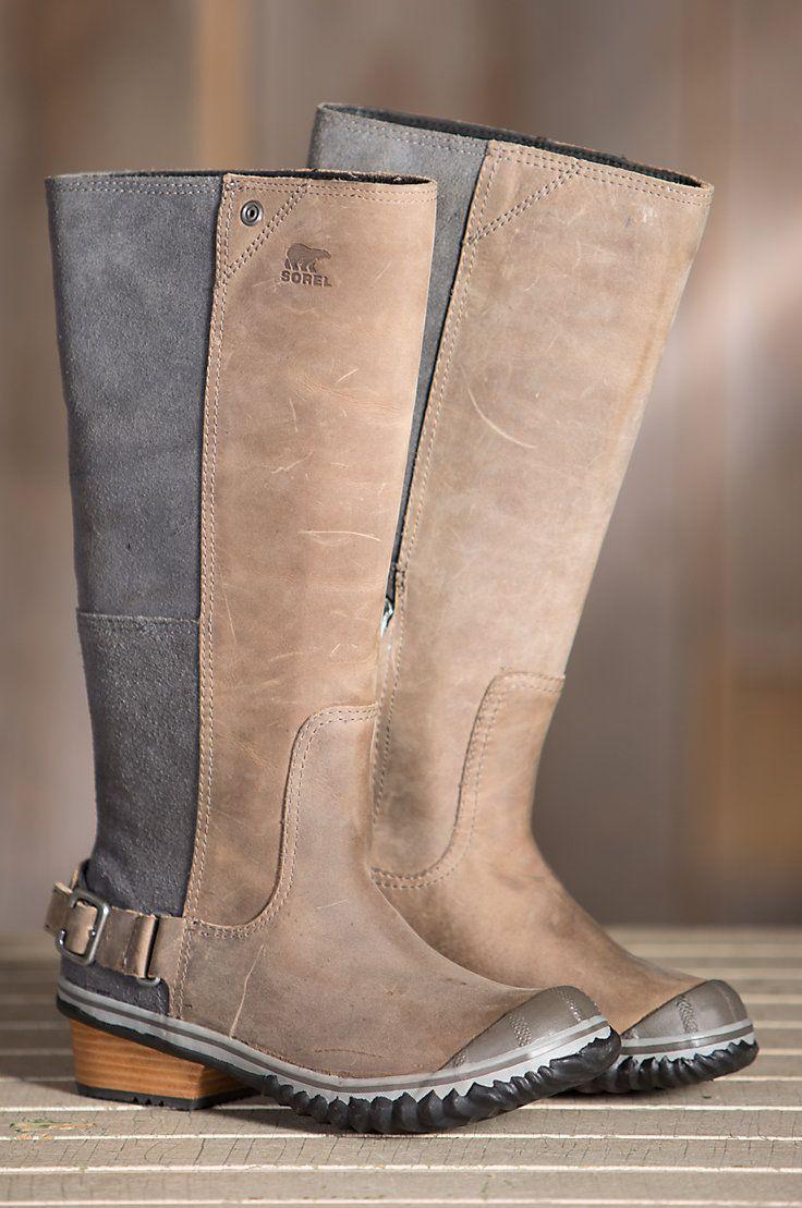 2edf00a390c Women's Sorel Slimboot Waterproof Leather Boots in 2019 | Fall Into ...