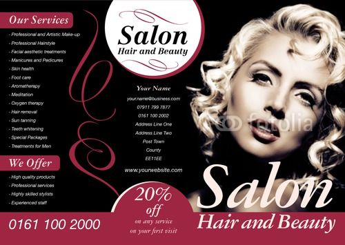 Beauty Salon Flyer Templates  Free Psd Eps Ai Illustrator