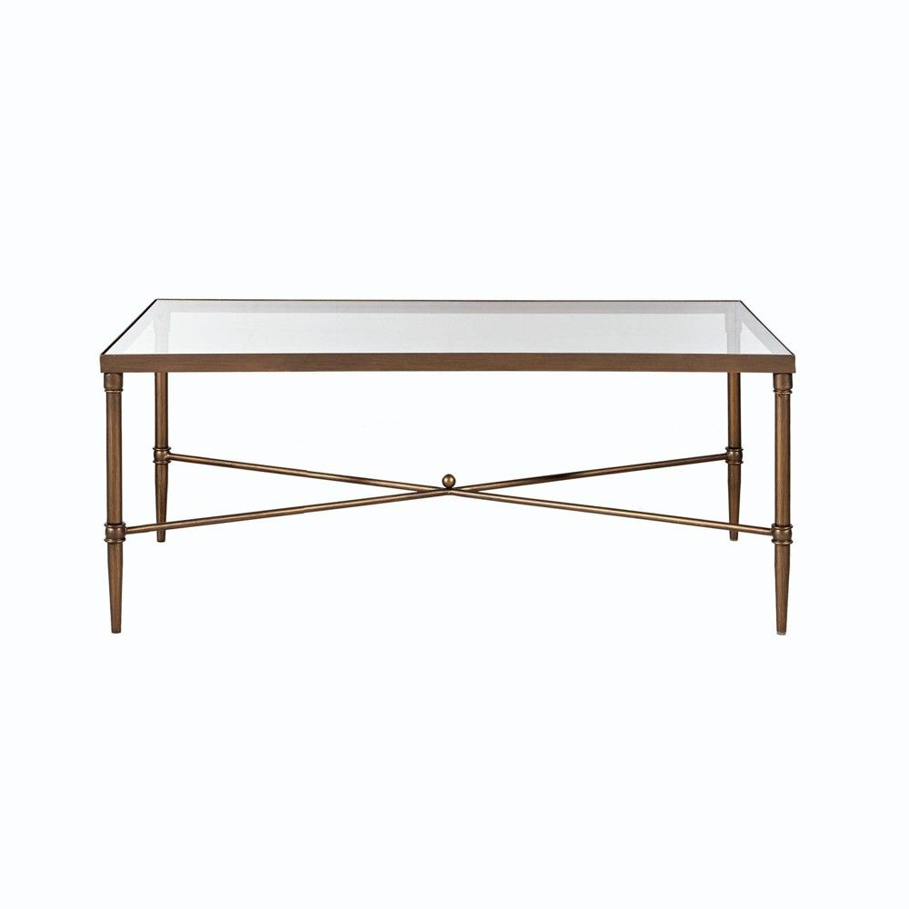 Porter Rectangle Coffee Table Bronze Clear Coffee Table
