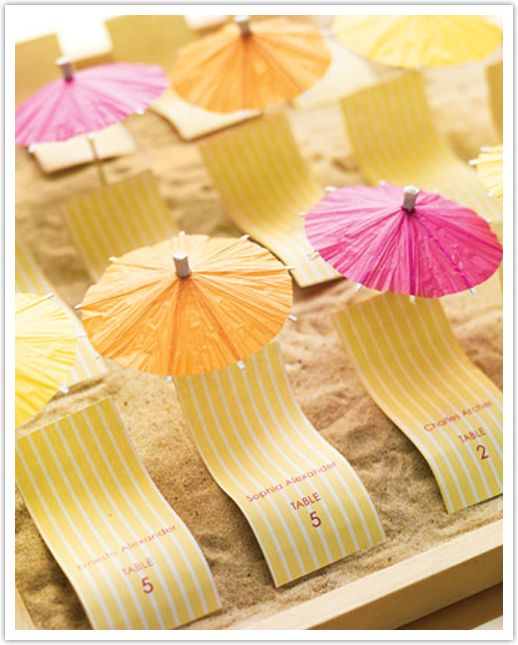 Cute Wedding Ideas For Reception: Beach Themed Wedding? Try Cute Place Cards Like This