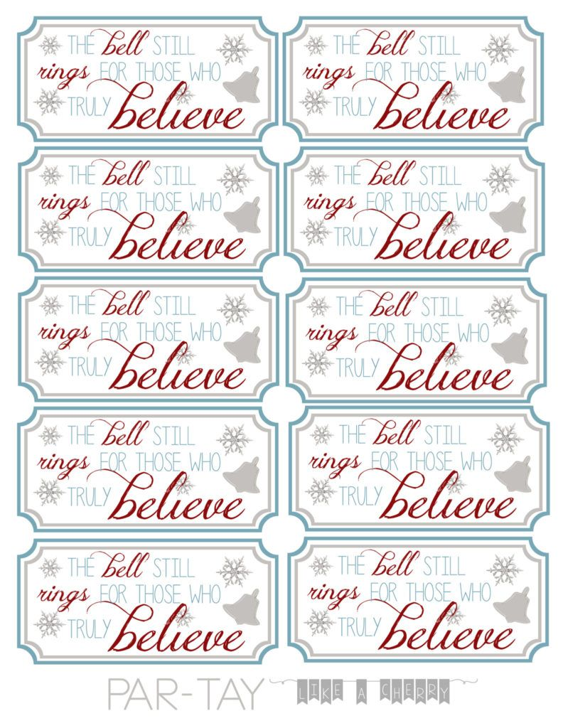 Polar Express Bell Tags  Party favor tags Party guests and Free