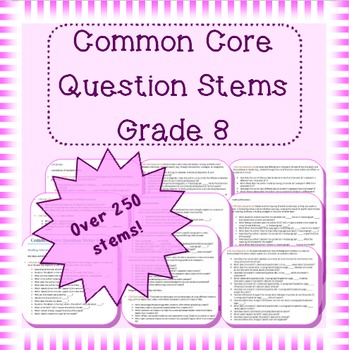 Common Core Question Stems For Grade 8 My Store Question