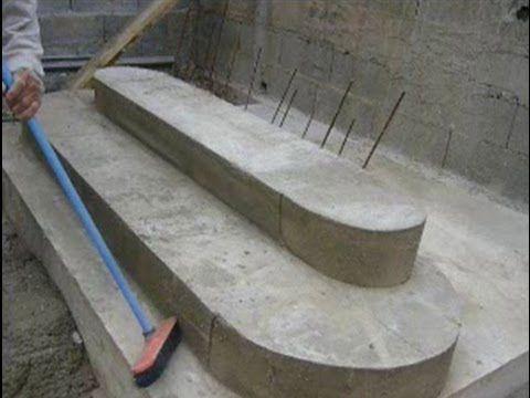 Construction d'un Escalier en béton - Bâtir sa maison à moindre coût