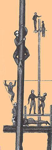 Recreational Mast Climbing, ca. 1830