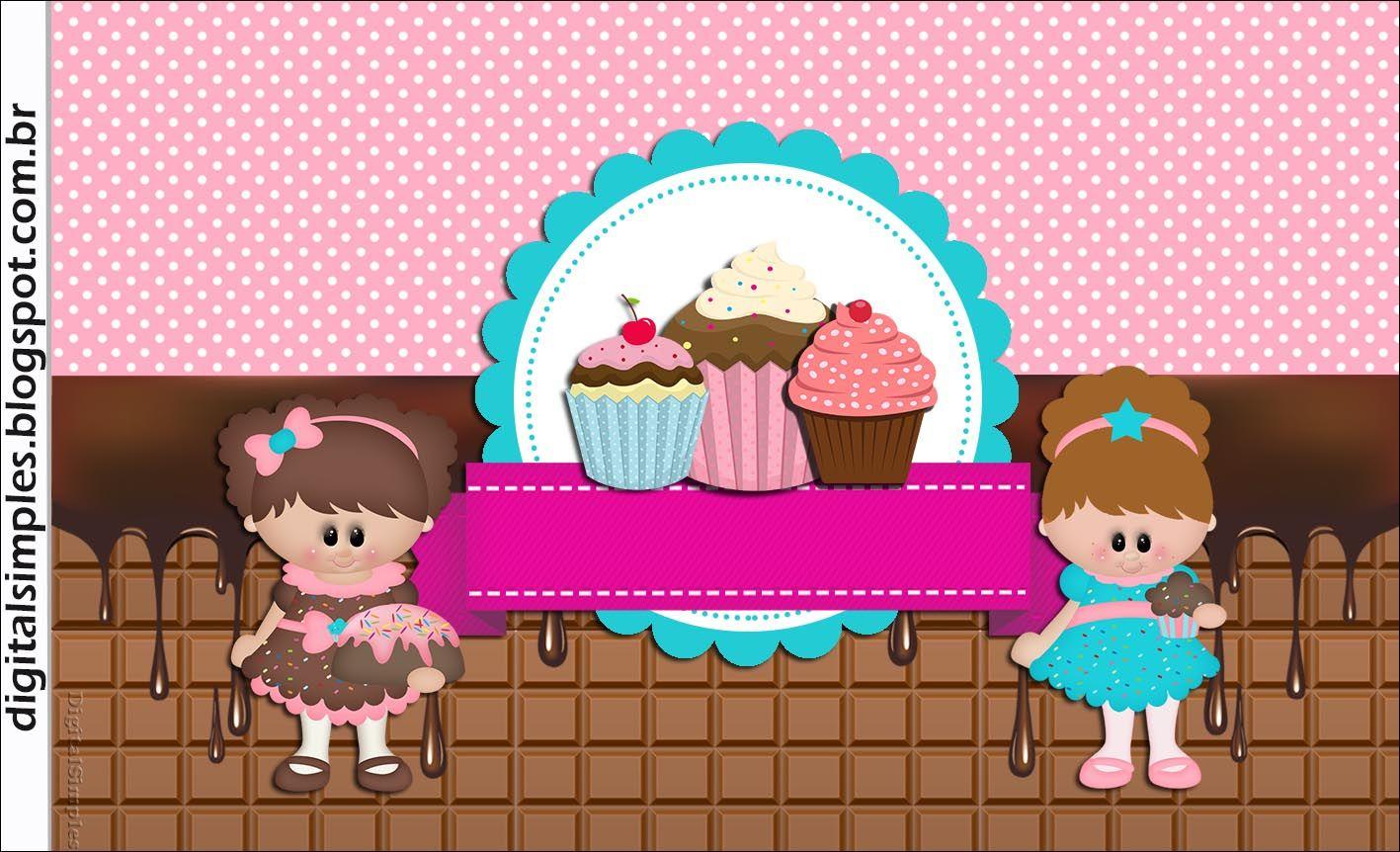 festa de aniversário cupcake para imprimir gratuito com convite