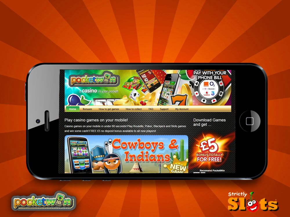Pocket win is a new real money mobile tablet casino with £