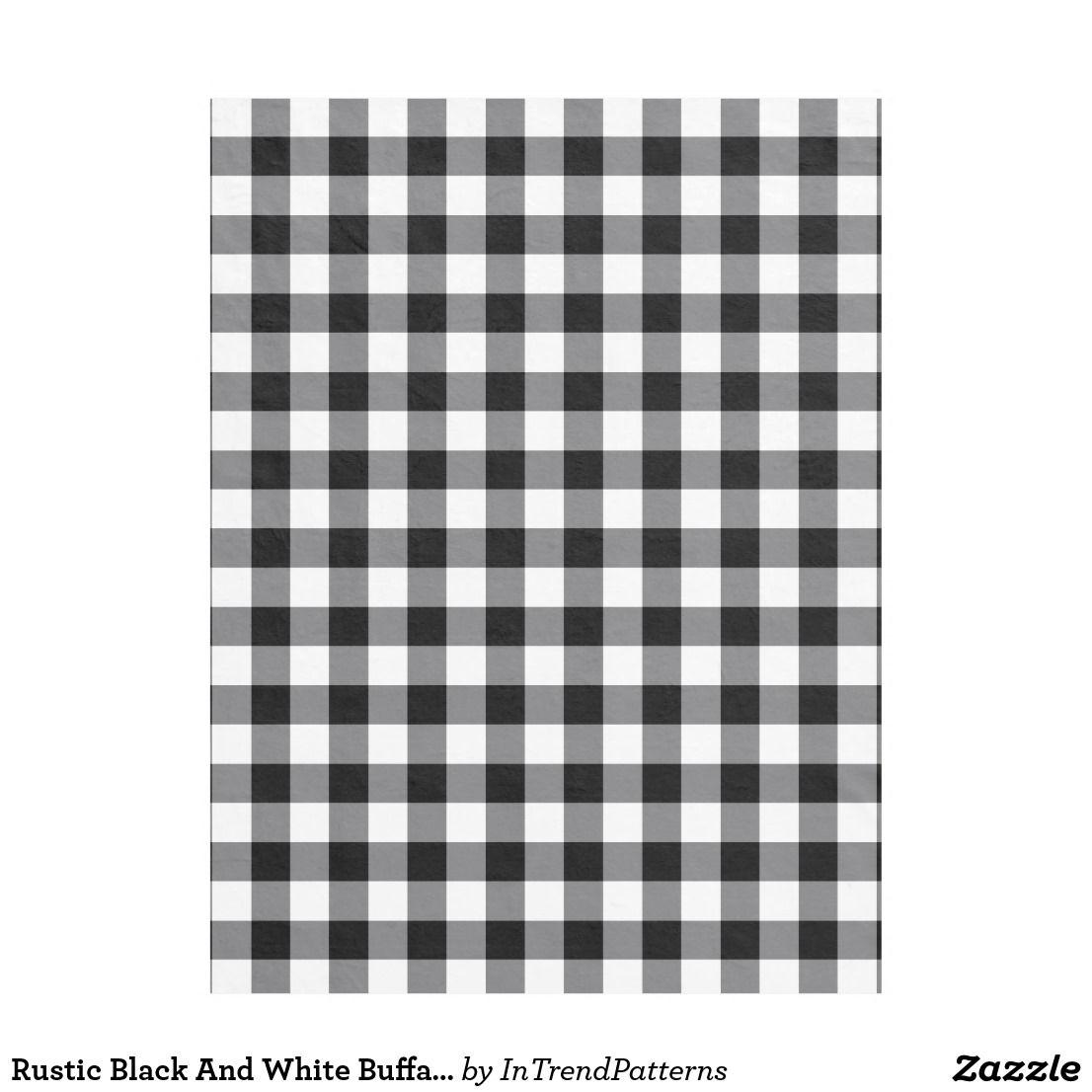 Rustic Black And White Buffalo Plaid Fleece Blanket Zazzle Com Buffalo Plaid Black White Rustic