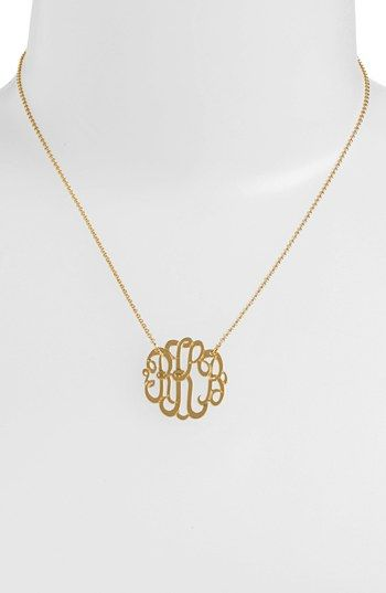 Personalized small 3 initial letter monogram necklace letter argento vivo personalized small 3 initial letter monogram necklace nordstrom exclusive available at aloadofball Gallery