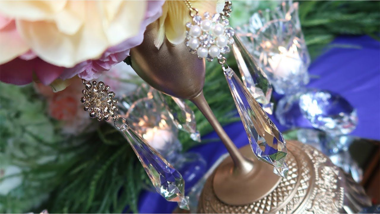 How To Diy A Dollar Tree Champagne Glass Flower Ball Topiary